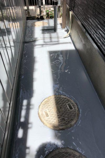 栃木県宇都宮市 通路防水工事 ウレタン樹脂