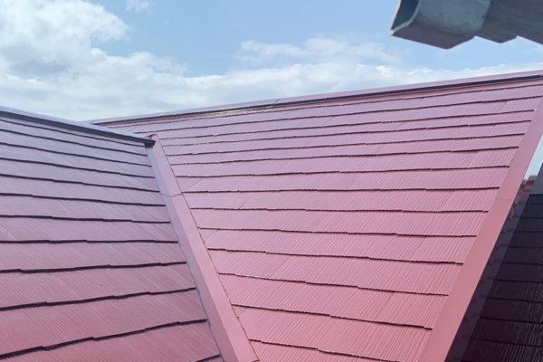 栃木県真岡市 屋根塗装 スレート一部差し替え ファインパーフェクトトップ