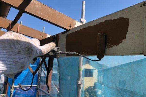 栃木県宇都宮市 屋根塗装 付帯設備 ベランダ 物干し場
