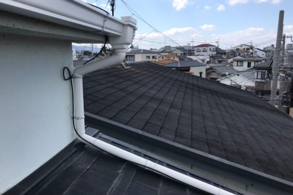 栃木県宇都宮市 雨樋交換工事 付帯部塗装