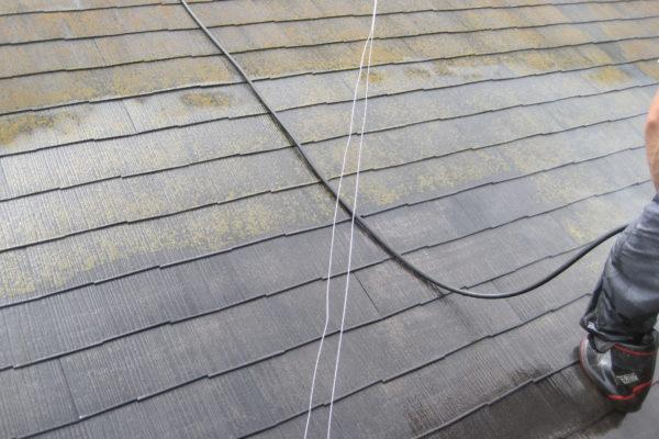 栃木県鹿沼市 屋根塗装 高圧洗浄 下地処理