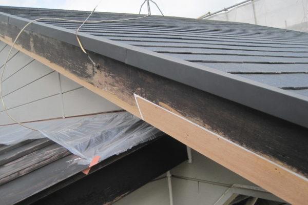 栃木県小山市 屋根塗装 下地処理 破風修繕