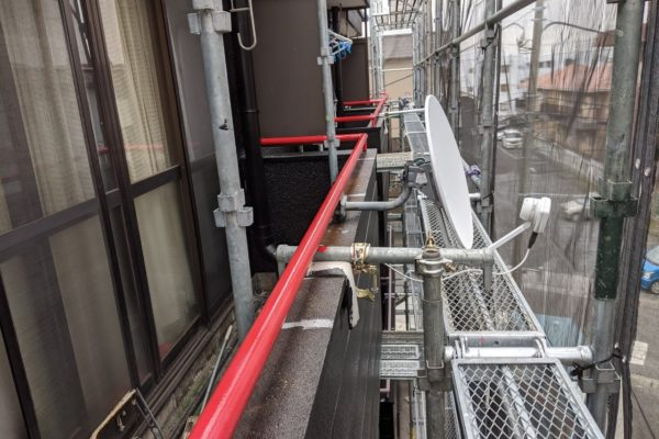 栃木県宇都宮市 マンション ベランダ ひび割れ補修 塗装