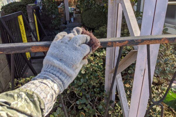 フェンス下地処理の画像