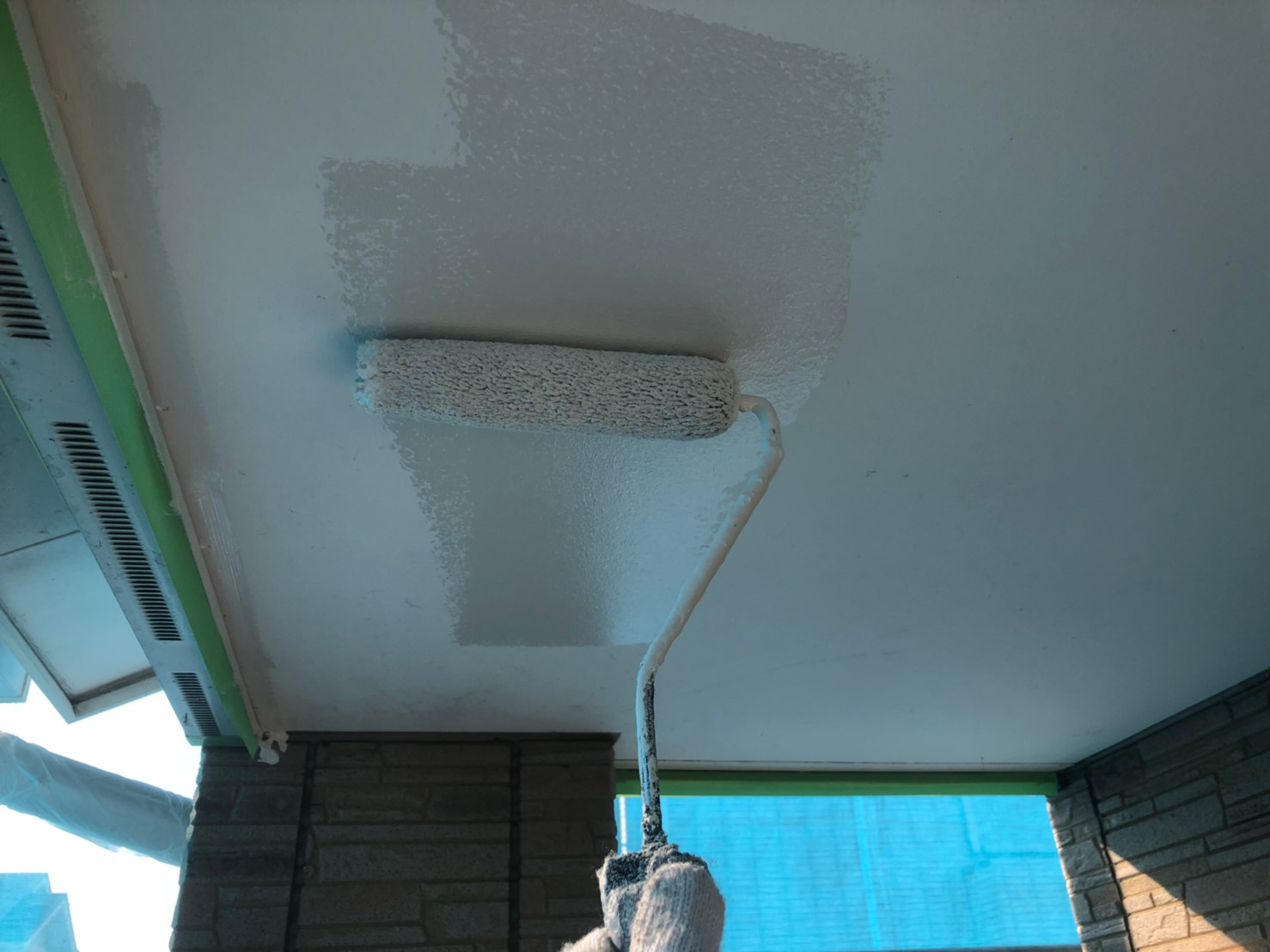 軒天井塗装の画像
