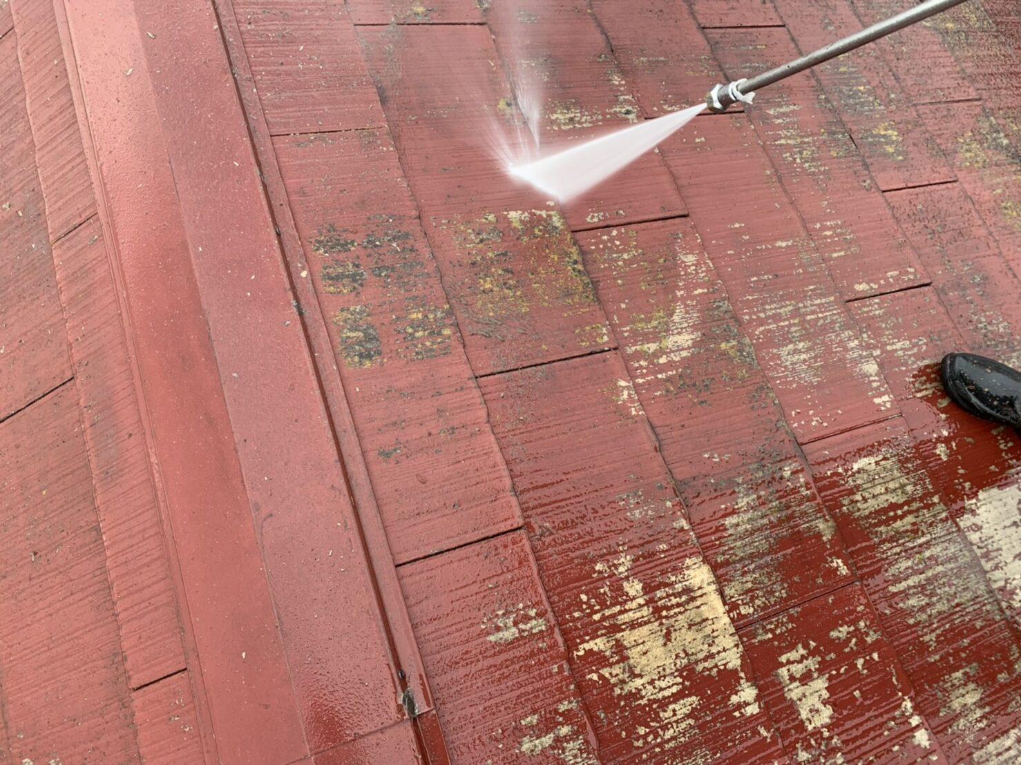 スレート高圧洗浄の画像